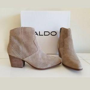 NEW ALDO COWBOYS FASHIONABLE BOOTS Khaki, Size 11